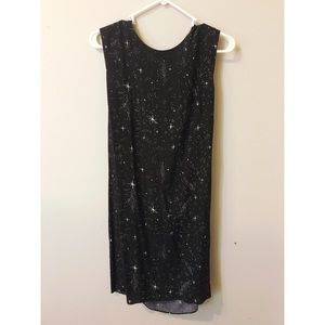 & other stories constellation open back dress